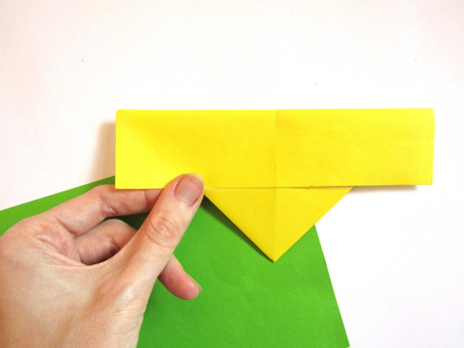 Оригами сердце с крыльями из бумаги - 7