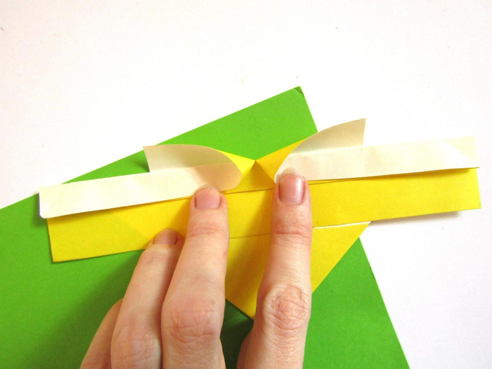 Оригами сердце с крыльями из бумаги - 8